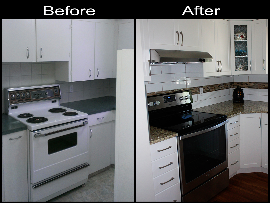 Renovations Kitchen before after