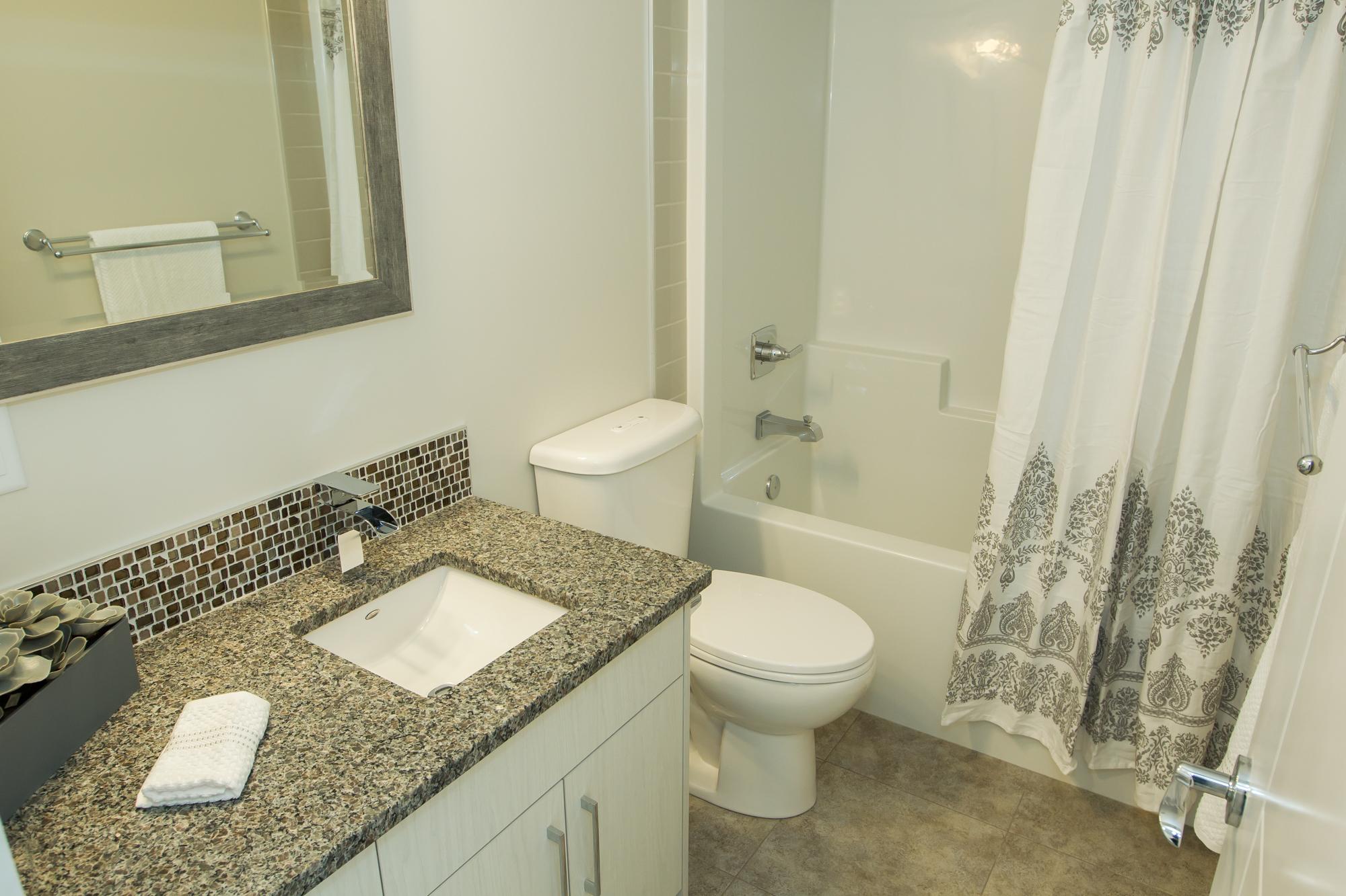 Custom Bathroom in Energy Efficient Home