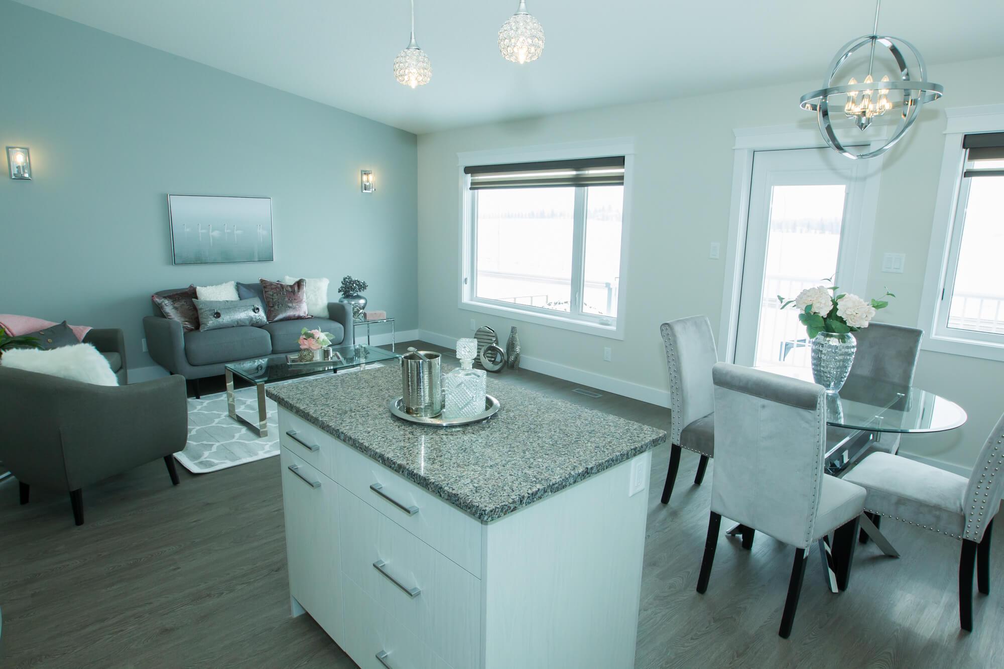 Custom Living Room in Healthy, Energy-Efficient Lethbridge Home