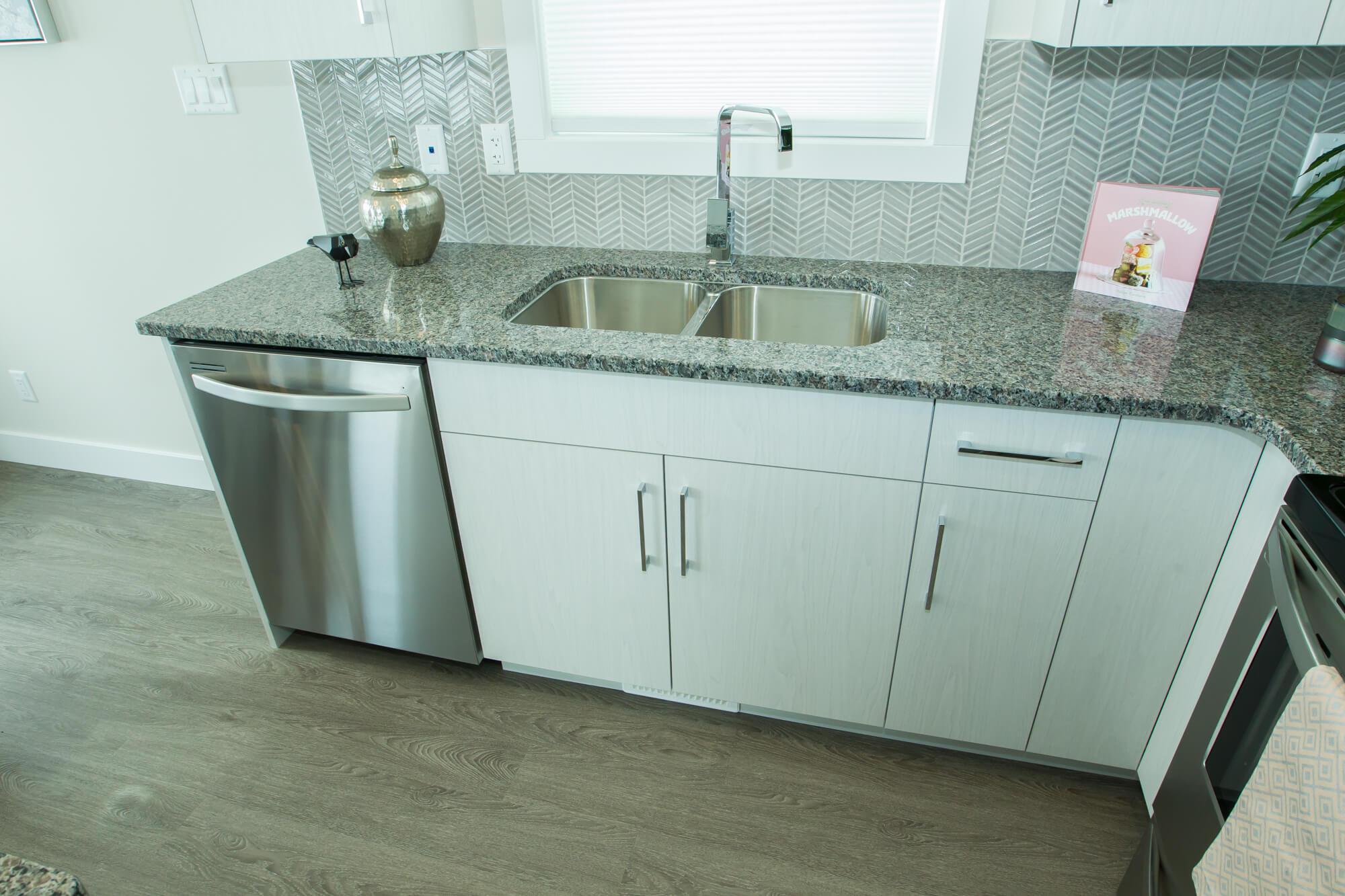 Kitchen in Custom, Healthy Lethbridge Home