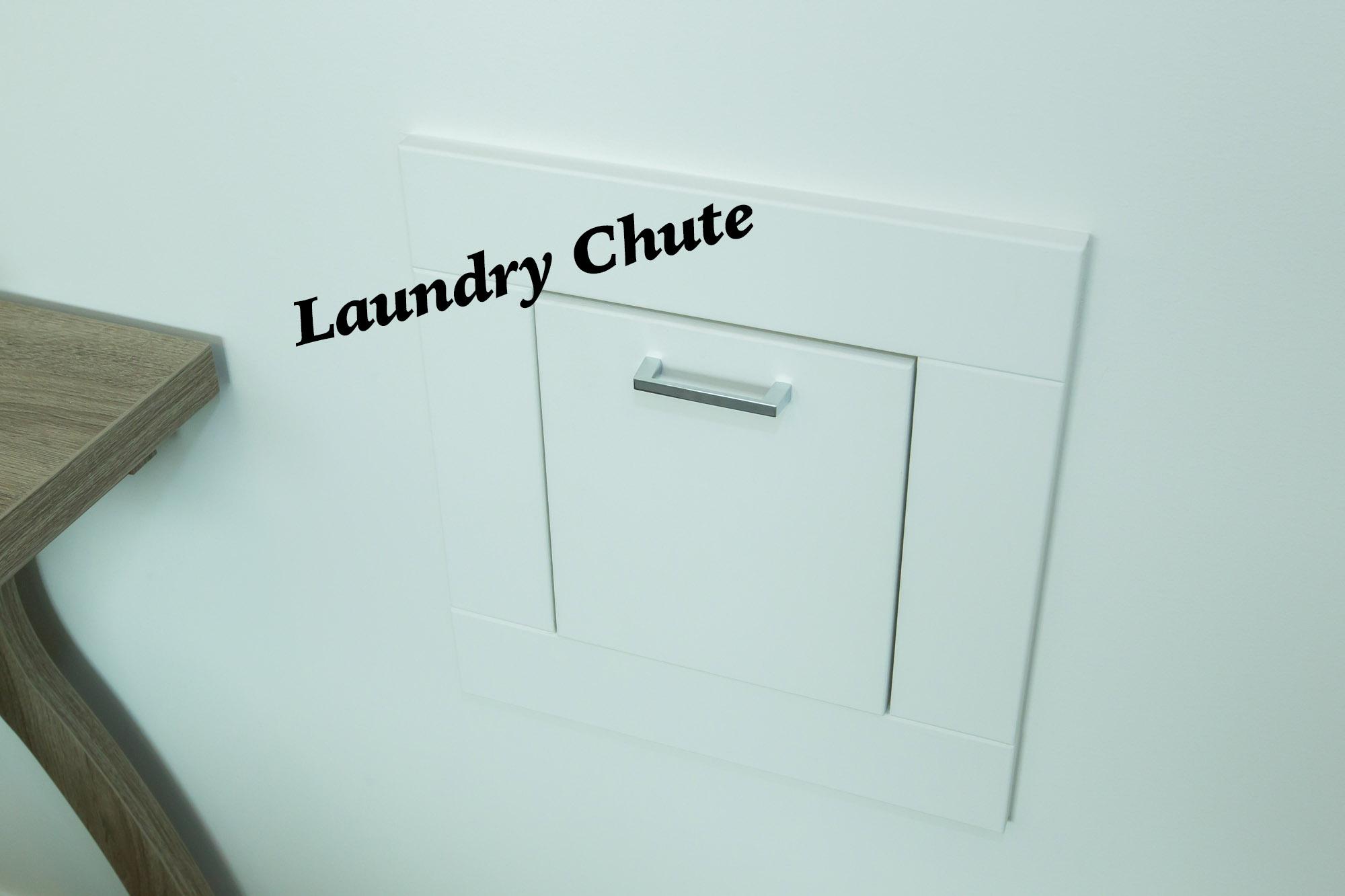 Custom Laundry Chute in Energy Efficient Lethbridge Home