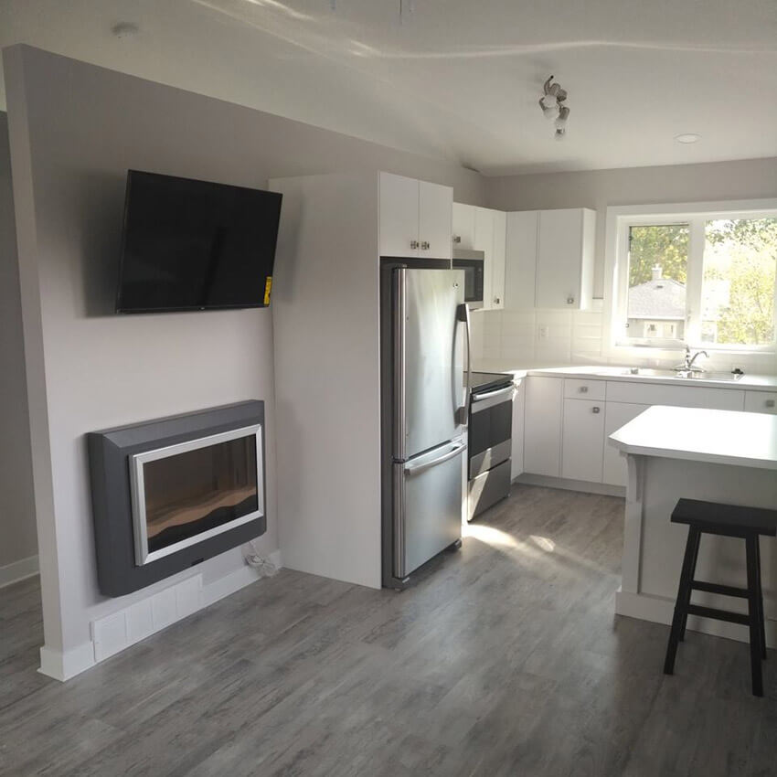 Kitchen in a Custom Lethbridge Investment Property