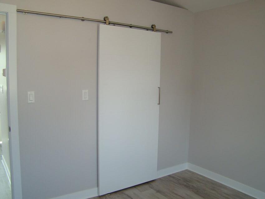 Closed Barnwood style closet in custom Lethbridge home