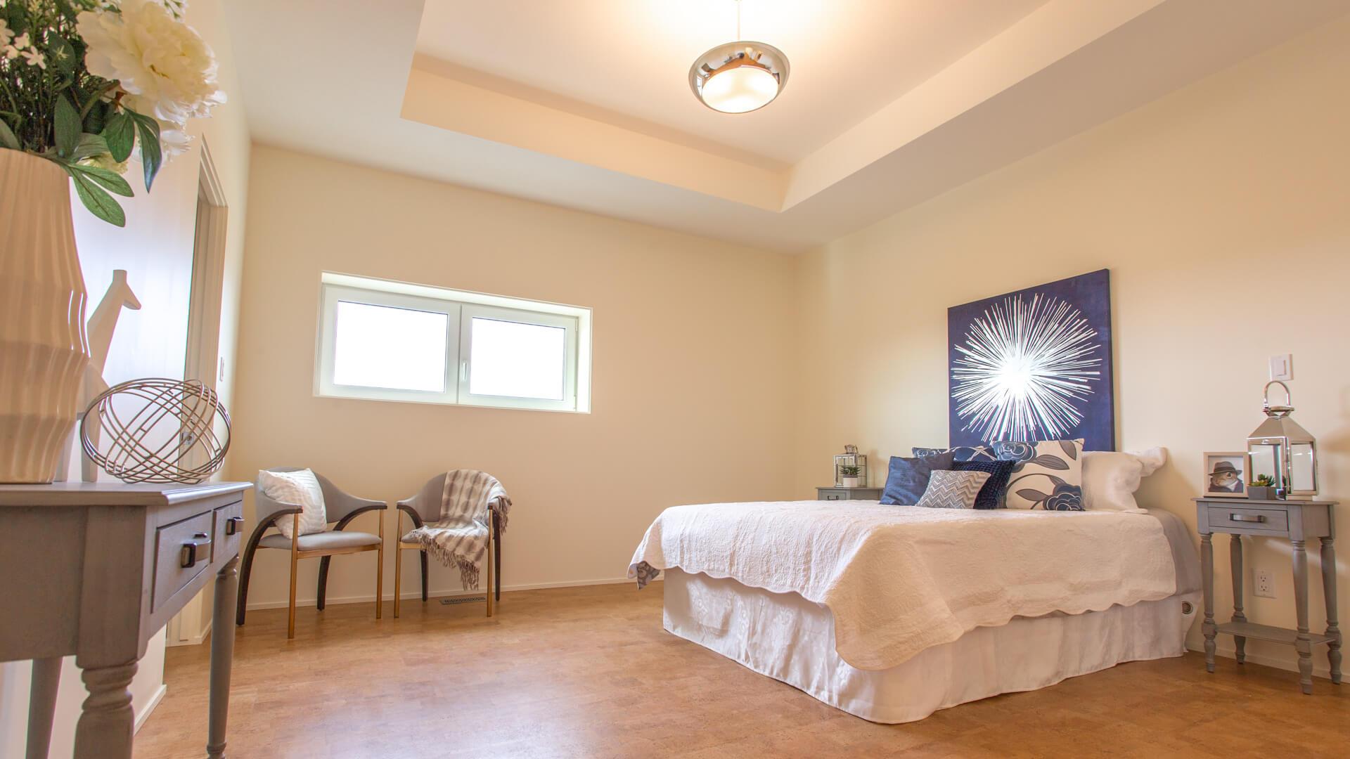 Master Bedroom in Custom Lethbridge Home