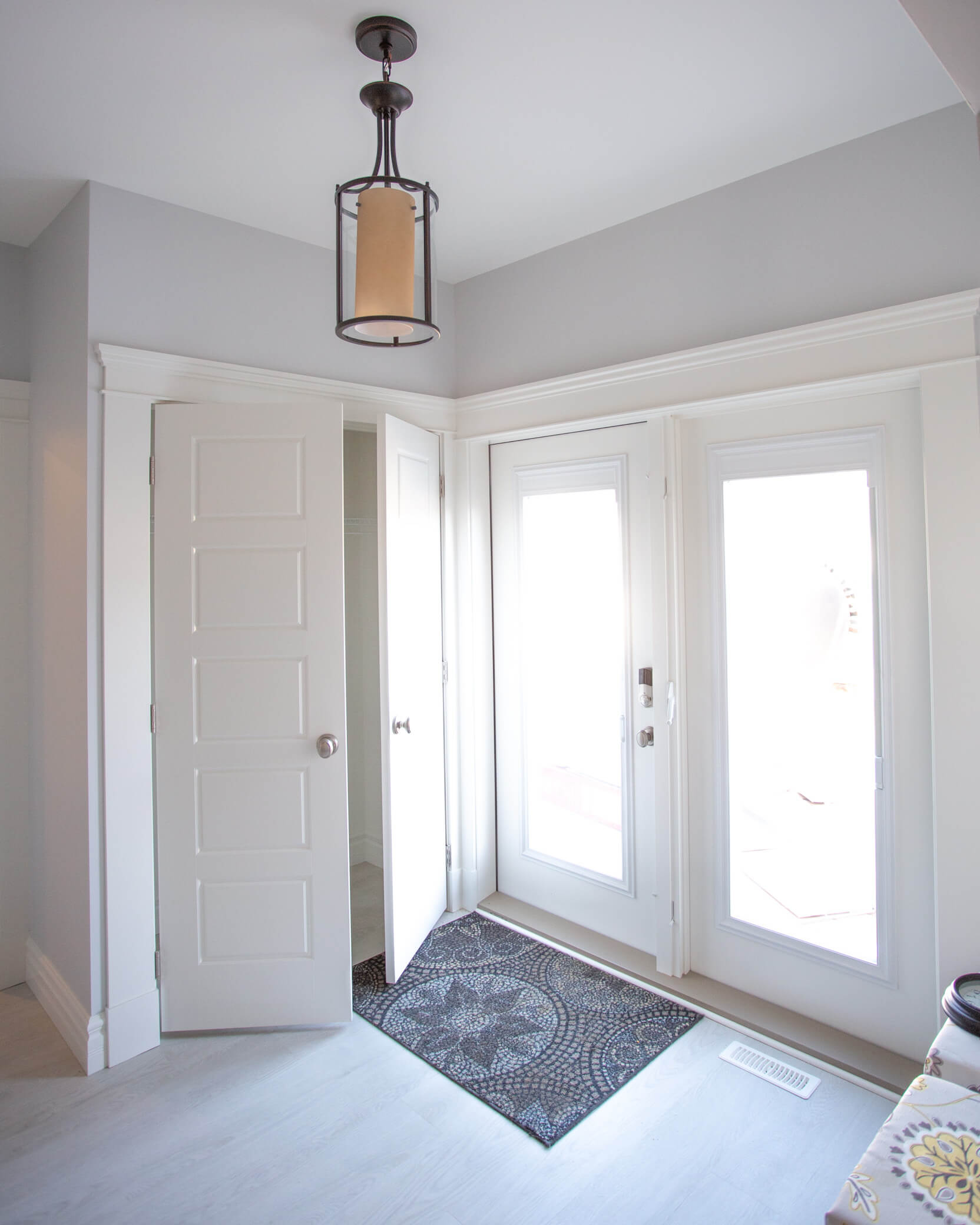 Lethbridge Mudroom Entry in Renovated Addition