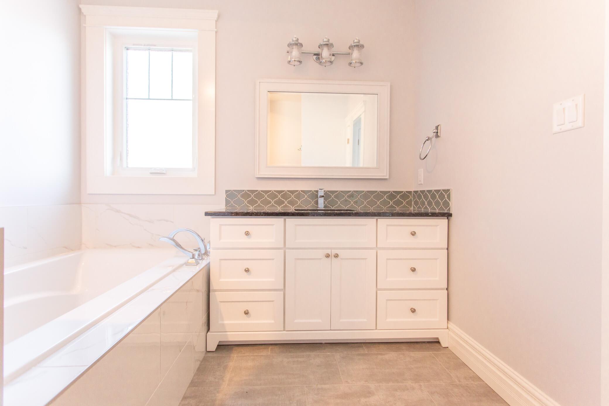 Beautiful ensuite in renovated Lethbridge home