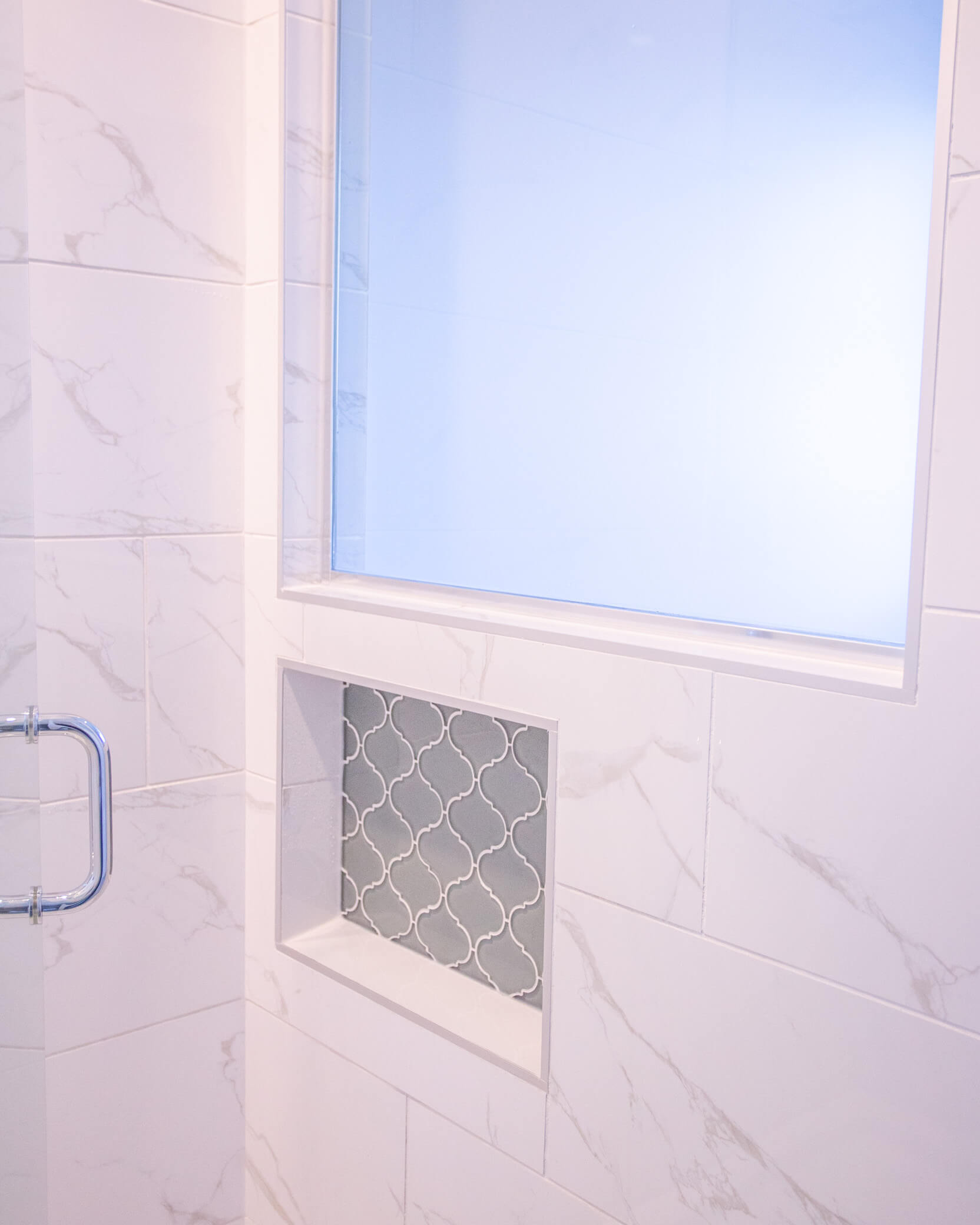 Beautiful shower in renovated Lethbridge home