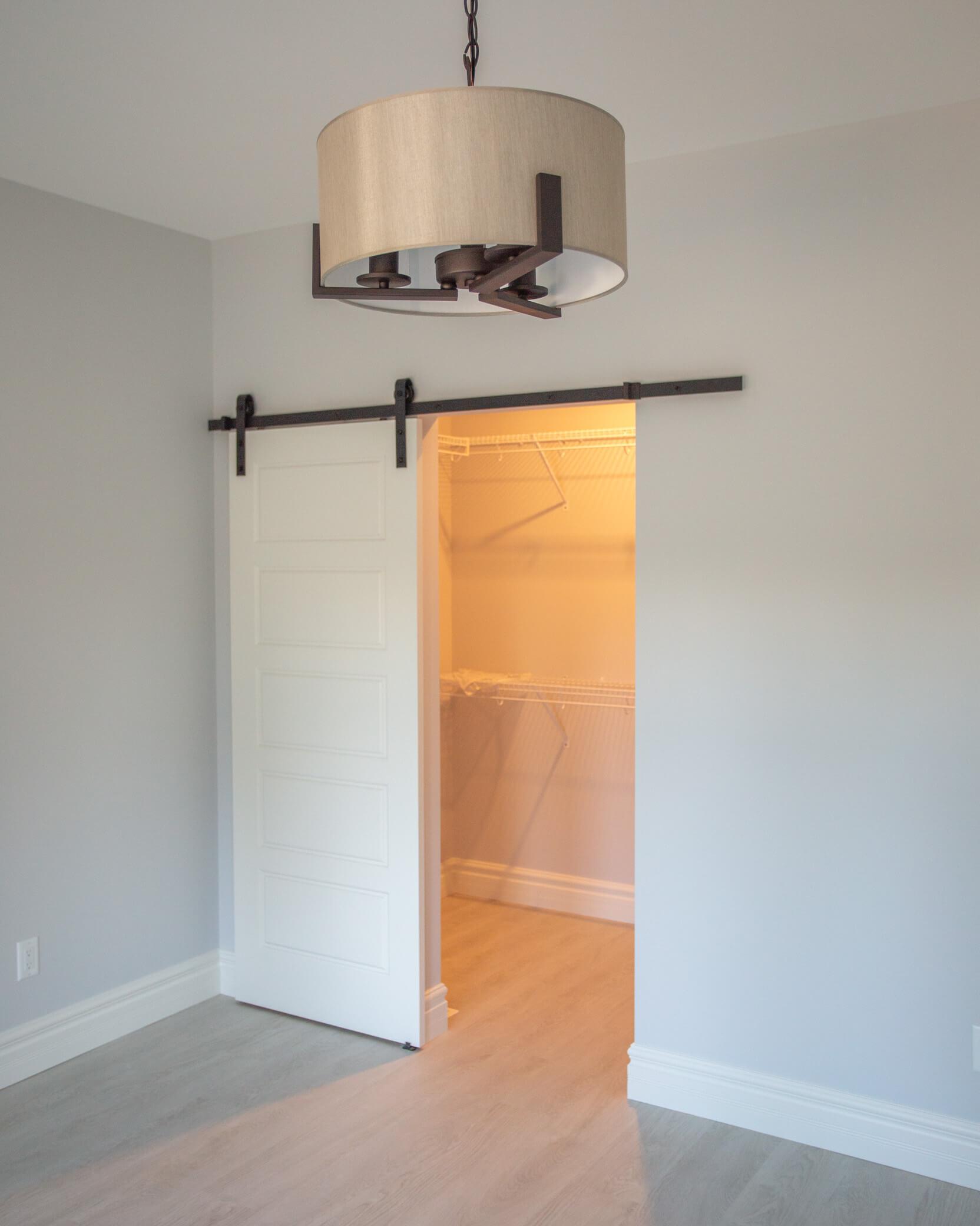 Renovated Addition in Lethbridge - Master Bedroom Closet